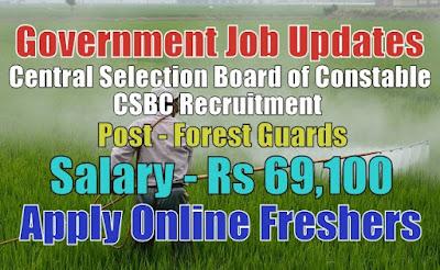 CSBC Recruitment 2020