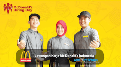 Lowongan Kerja Crew Store McDonald's Indonesia Ciceri Serang & Cilegon