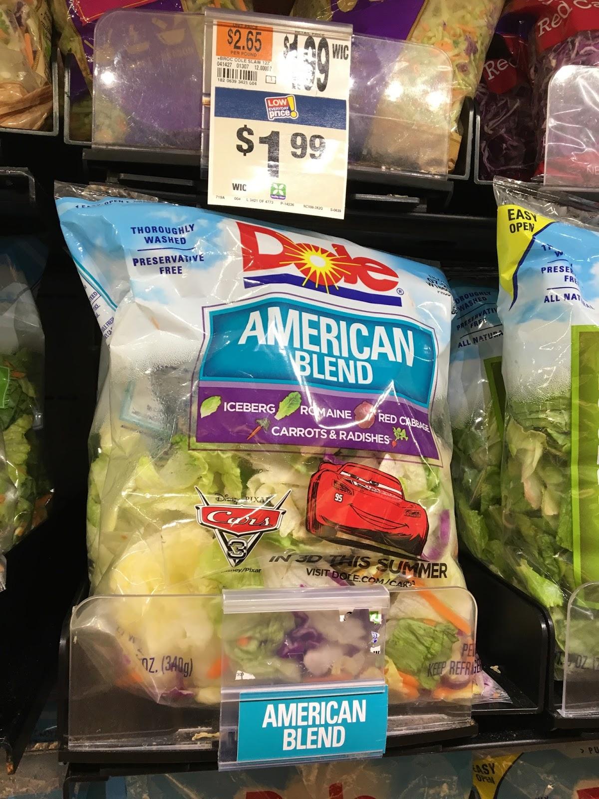 disney pixar cars 3 dole lettuce