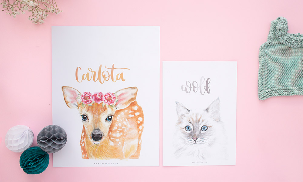 Entrevista a Laura Ges,( laudecor), diseño de láminas personalizadas, lettering e imagen corporativa.