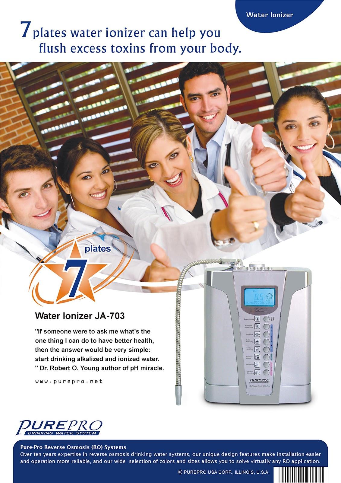 美國 PurePro® 鹼性離子整水器 JA-703 ★ 喝好水 ! 實現健康長壽 ! 最暢銷的鹼性離子整水器