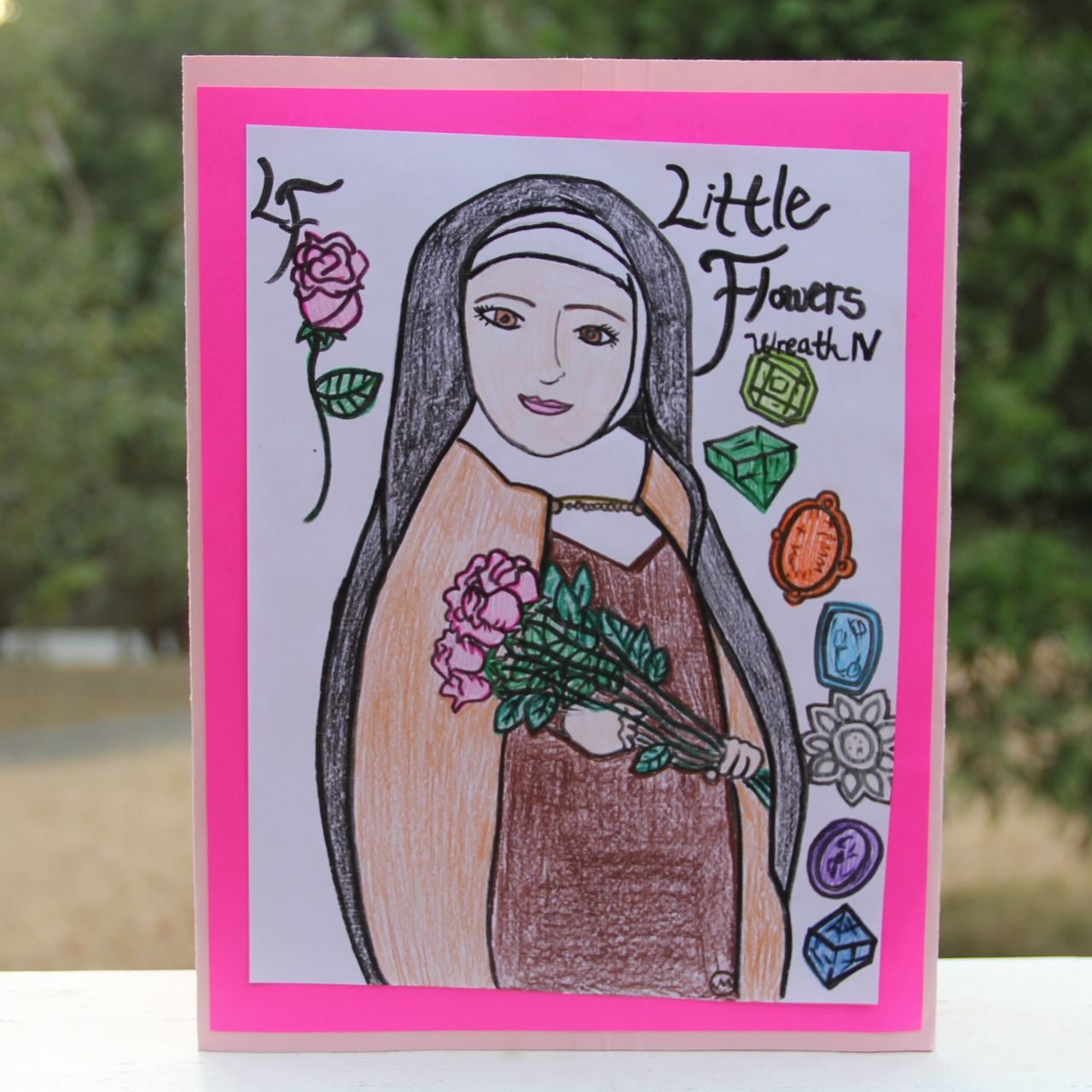 Shower of Roses: Little Flowers Girls' Club Wreath IV Lap Book - photo#26