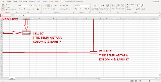 Pengertian dan Perbedaan Antara, Column, Row, Cell, dan Range di Excel