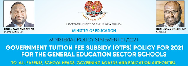 PNG School fees and subsidies 2021