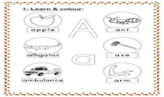 مذكرة تاسيس فى اللغة الانجليزية لمرحلة رياض الاطفال من موقع درس انجليزي - مذكرة انجليزي كى جى