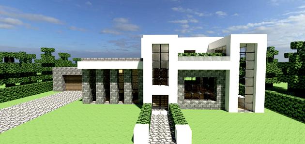 A doiis o que construir em minecraft for Casa moderna y automatica en minecraft