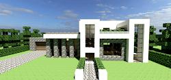 planos de casas modernas minecraft pe