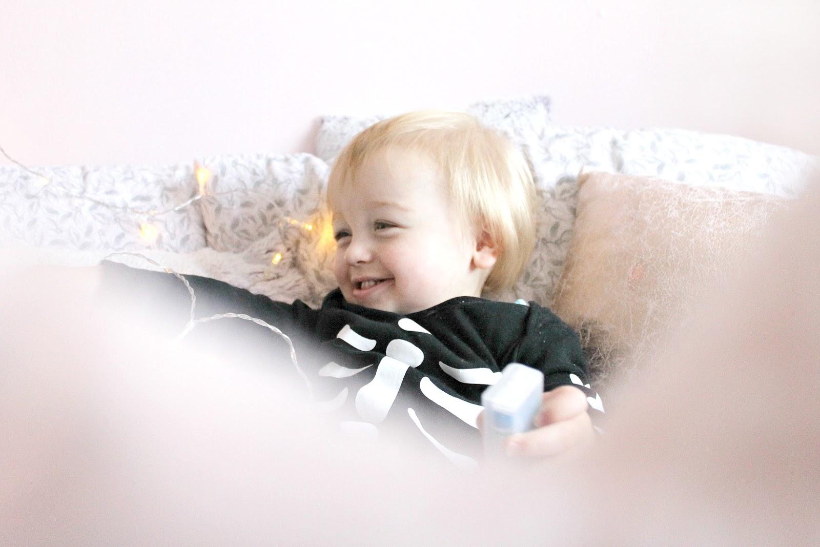 Toddler at seventeen months Halloween update