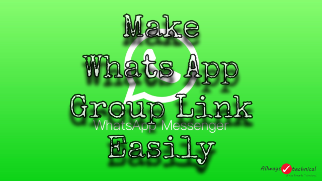 How To Make Whats App Group Link - Easy Trick