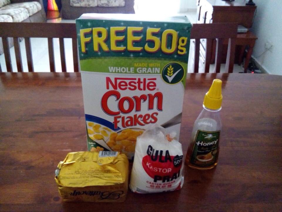 bahan bahan cornflakes madu