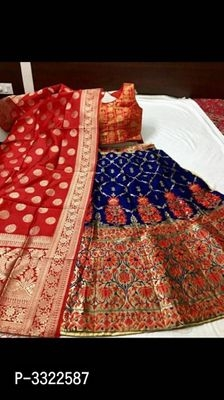 Bride - Jacquard Work Lehenga Cholis
