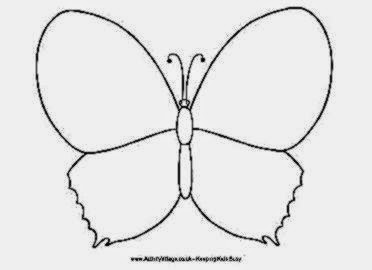 Design A Butterfly Colouring Page