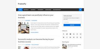 Frameify blogger template