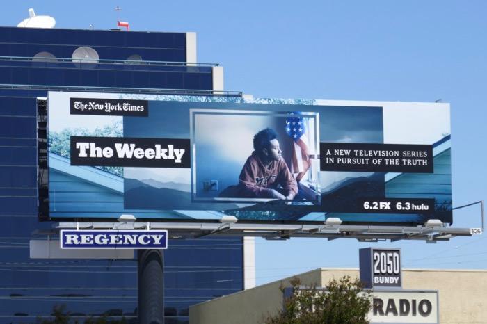 New York Times Weekly series billboard