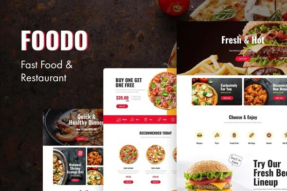 Foodo Elementor Templates