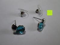 Ohrringe: Fashmond Schmuckset Schmuck-Sets eine Ohrringe, ein Armband und eine Halskette Kette mit Anhänger für Frauen Mädchen Blau aus Kristall