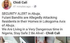 Breaking: Fulani Herdsmen storm Abuja