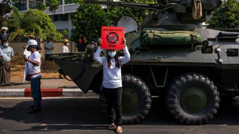 'Protesters face up to 20 years in prison if they obstruct armed forces'- Myanmar military warns