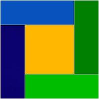 ilustração com cores da bandeira brasileira