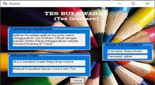 Form about aplikasi buta warna