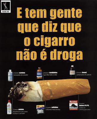 cartaz diga não a qualquer tipo de droga