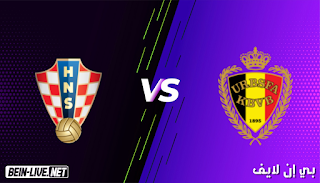 مشاهدة مباراة بلجيكا وكرواتيا بث مباشر اليوم بتاريخ 06-06-2021 في مباراة ودية