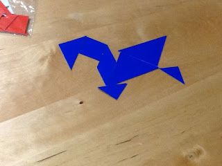 Tangrams in centers teach magically