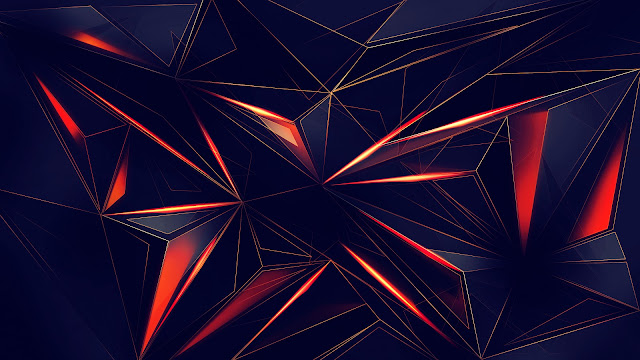 wallpaper 3d shapes abstract lines 4k