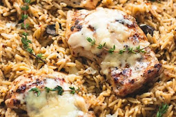 Slow Cooker Parmesan Herb Chicken and Orzo Recipe #dinner #chicken #chickendinner #slowcooker #crockpot