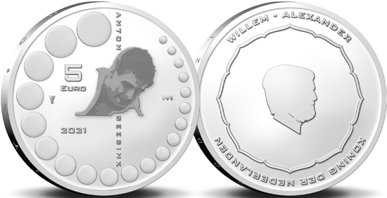 Netherlands 5 euro 2021 - Anton Geesink