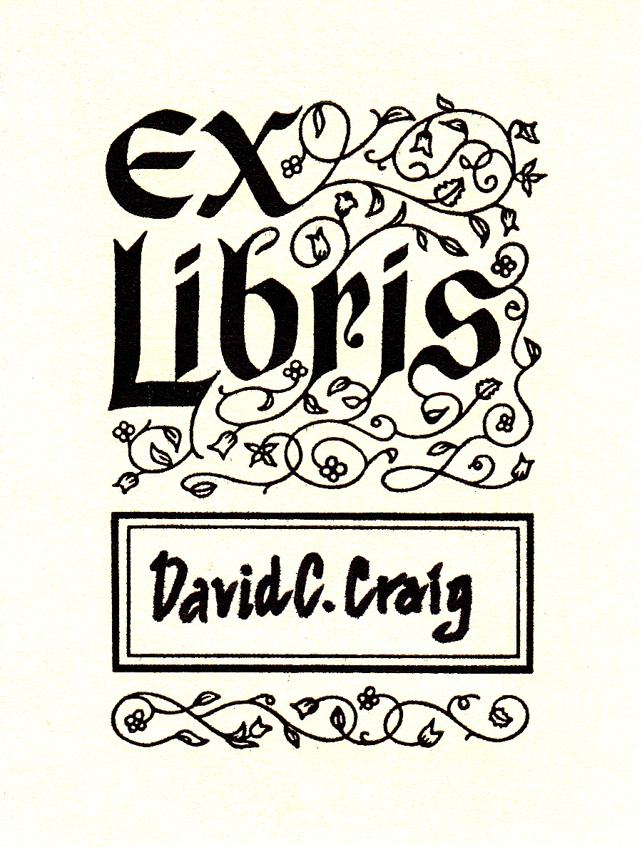 free printable bookplates templates - david cobb craig from my collection of bookplates black