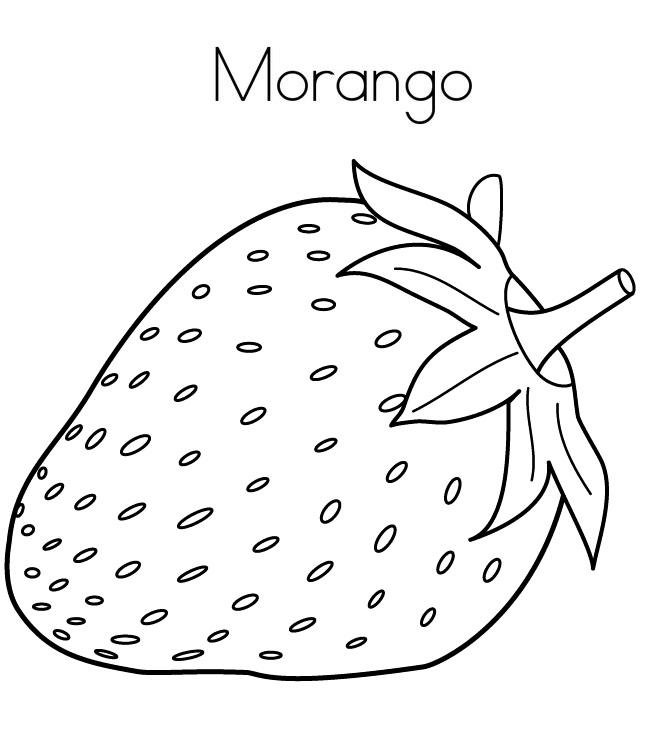 Morango Para Colorir