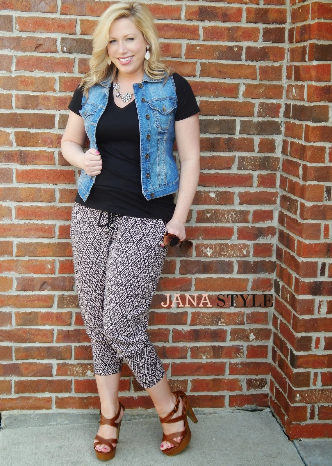 Outfit Post Printed Jogger Pants Jana Style 174 A