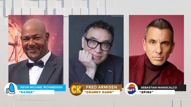 Mario Illumination movie voice actors Kamek Cranky Kong Spike Kevin Michael Richardson Fred Armisen Sebastian Maniscalco