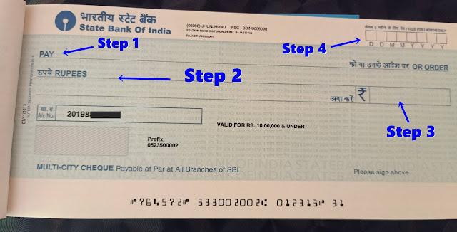 cheque book kaise bharte hai