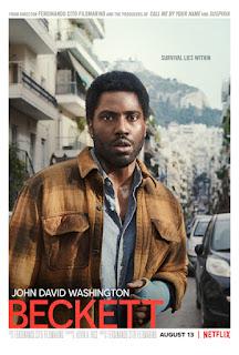 Beckett poster with John David Washington in Greece
