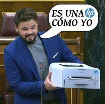 Gabriel Rufián,HP, impresora