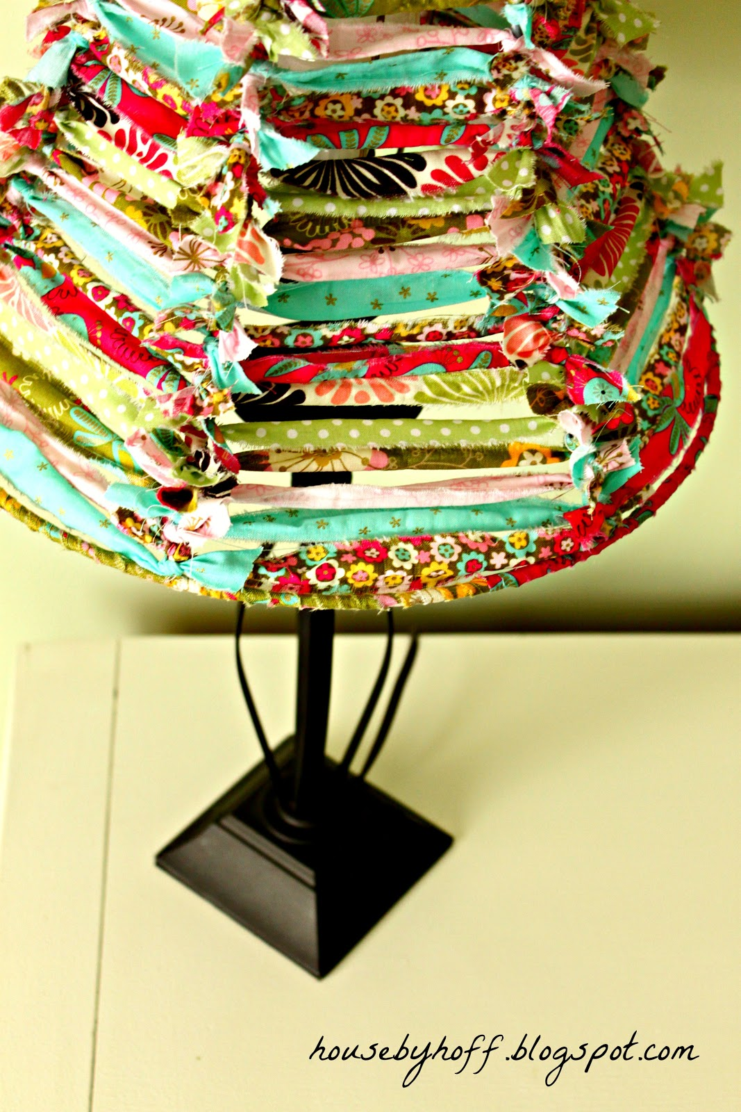 A Fabric Scrap Lampshade {It's $30 Thursday!} - House by Hoff
