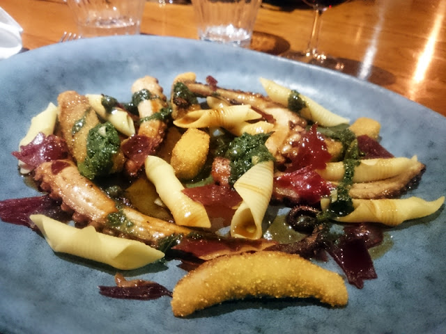 Octopus and pasta at Hotel du Vin Brighton