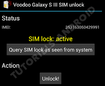 GALAXY S3 : SIM Lock > Active