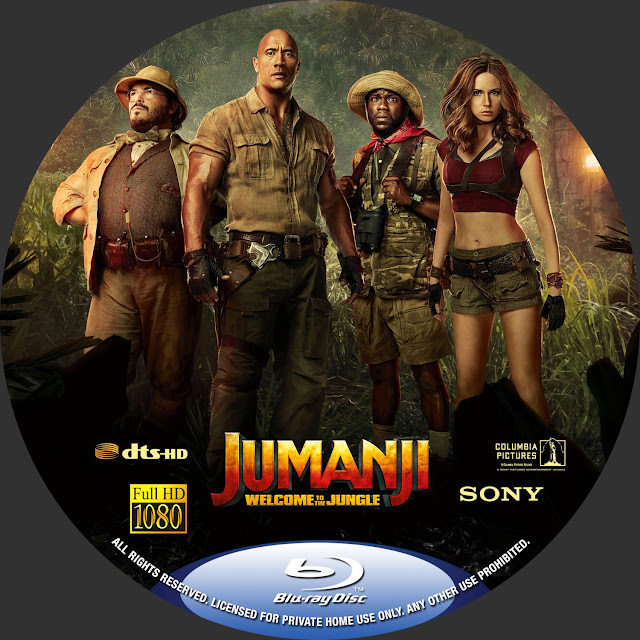 Jumanji Welcome To The Jungle Bluray Label