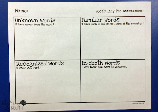 I want to share my favorite vocabulary activity with you!  One of the great things about this Vocabulary Graphic Organizer is that it can be used K-5 and across all subject areas.  There is a free copy of the organizer later in this post.