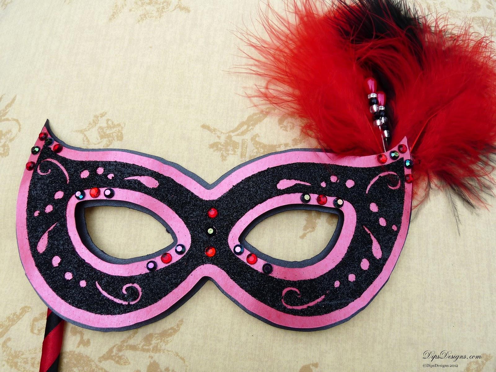 dipsdesigns silhouette cameo filigree masquerade mask tutorial