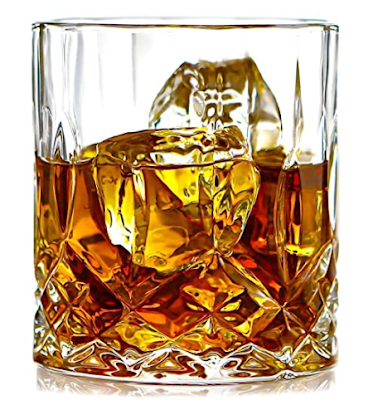 PrimeWorld Opera Crystal Whiskey Glasses Set for Drinking Bourbon, Whisky, Scotch, Cocktails and so on