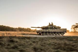 Stridsvagn 122 på Gotland vid tidigare beredskapskontroll. Foto: Försvarsmakten.