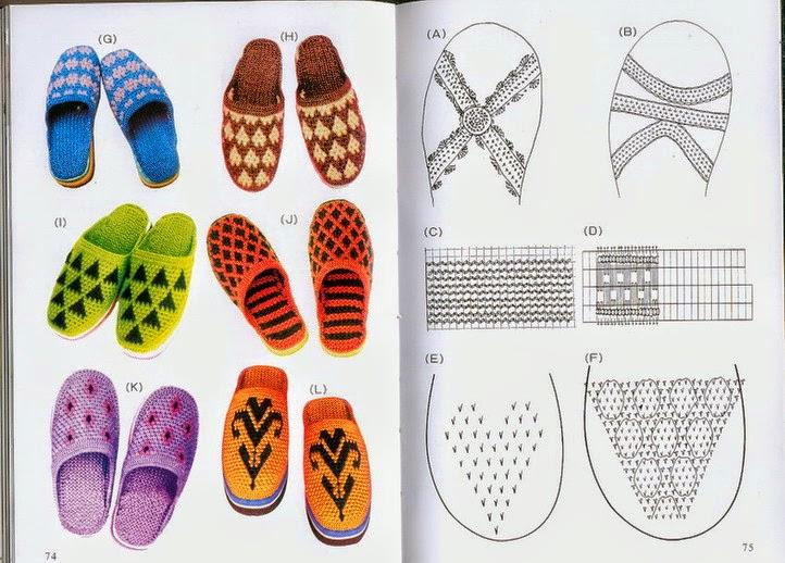 20 Modelos de calzado para tejer / Colección de patrones y ...
