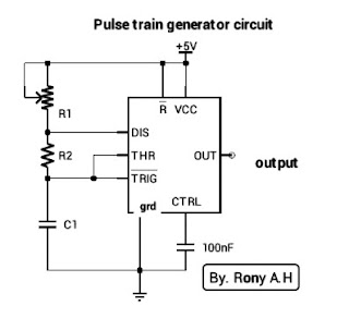 Elektro Circuit: Ic 555 Astable Multivibrator circuit