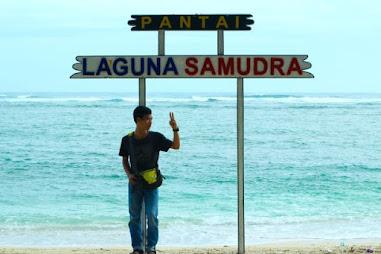 pesona pantai laguna samudra