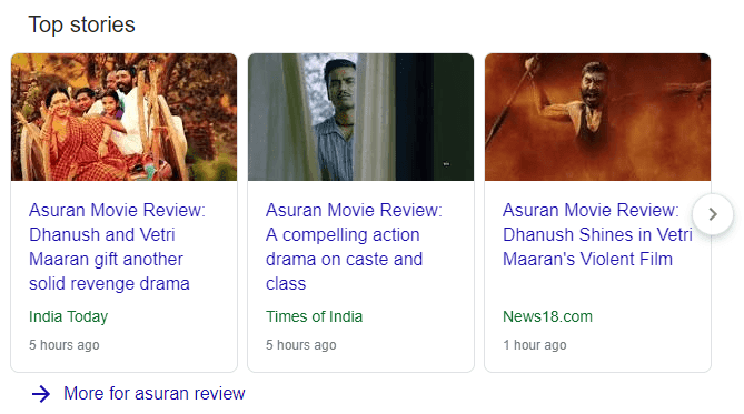 Top Stories - News Schema - News Structured data in SERP Amudhakumar