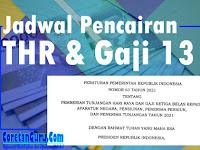 Jadwal THR dan Gaji 13 Tahun 2021 PNS, Polri, TNI, dan Pensiunan